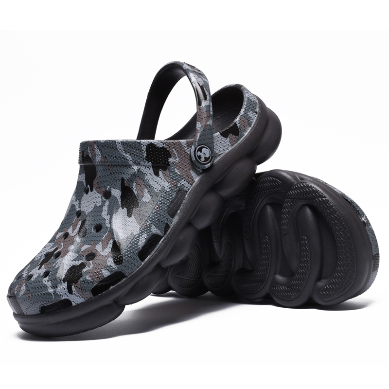 Crocse Crocks   Men Pool Sandals Summer Outdoor CholasBeach Shoes Men Slip On Garden Clogs Casual Water Shower  LiteRide Crock