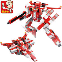 Sluban  Robots Building Block  Warrior  Red Spider spaceship  Compatible With  Brick Education Toys For Children Gifts
