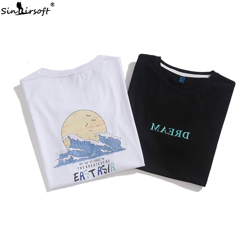 100 cotton summer short sleeved men 39 s limited edition loose fashion large size T shirt casual printing short sleeved men in T Shirts from Men 39 s Clothing