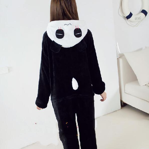 Wholesale-Adults Flannel Pyjamas Cute Cartoon Animal Panda Pajamas Cosplay Party Costume Sleepwear For Men Women