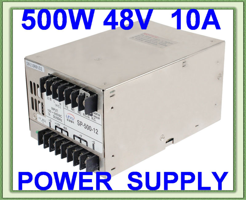 48V 500W AC DC single output LED lamp high frequency switching power supply with PFC function high power 500w ac dc 24v single output 20a with pfc made in china switching power supply