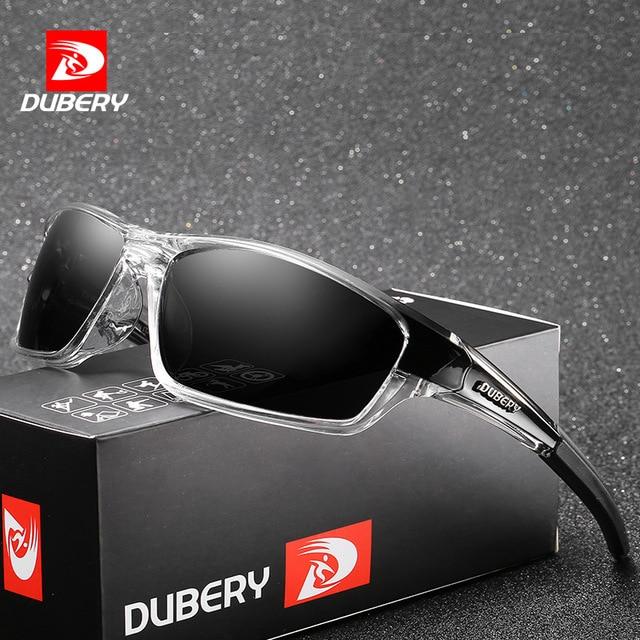 4cedfd2635db4 DUBERY Aviação Polarizada Condução Óculos De Sol Dos Homens Retro Masculino  Espelho Óculos de Proteção Óculos