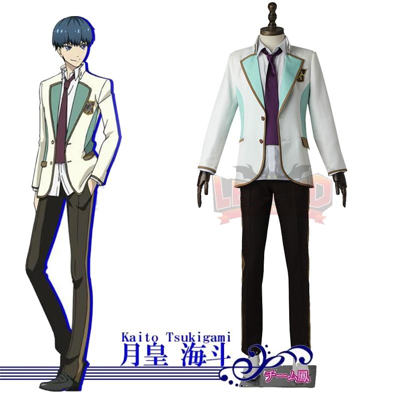 High School Star Musica Tsukigami Kaito Cosplay adult costume  2017 costume full set custom made
