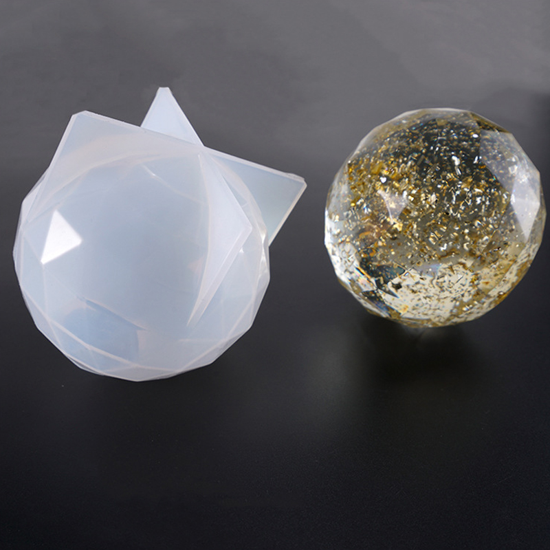 1 PC Silicone Multilateral Cut Ice Ball DIY Dried Flower Silicone Jewelry Resin Epoxy Molds