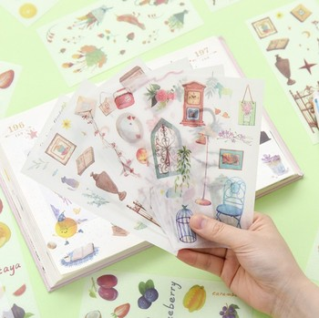 6 pcs/pack Comfortable Sweet Time  Decorative Stickers Scrapbooking Stick Label Diary Stationery Album - discount item  22% OFF Stationery Sticker