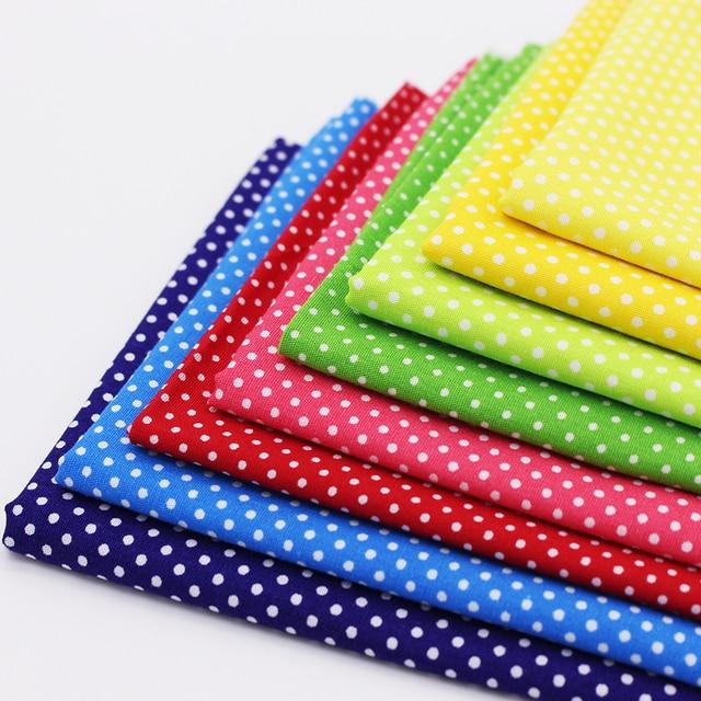Multicolor Polka Dot Cotton Fabric Tilda Fabrics For Patchwork ... : polka dot quilt fabric - Adamdwight.com
