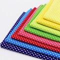 Multicolor Polka Dot Cotton Fabric Tilda Fabrics For Patchwork Cotton Tissue Home Textile Woven Telas Tecido Cotton Cloth