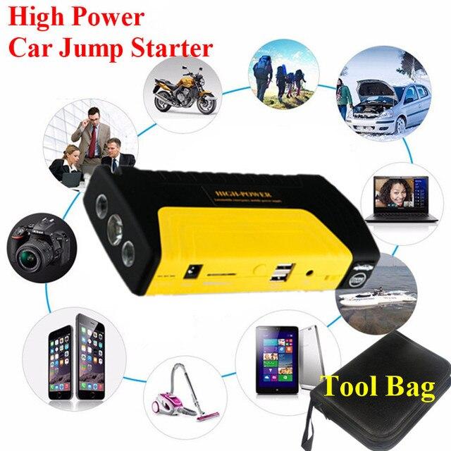2017 High Power 9000mAh 12V Car Jump Starter Emergency 400A Peak Car Battery Starter Mini 2USB Power Bank SOS Lights Free Ship