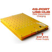 Free Shipping By DHL 1PC Prefect 49 Port High Speed Hubs Charger With Data Transmission USB