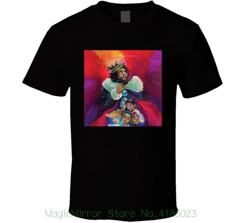 J. Cole - Kod Cover T Shirt Casual Plus Size T-shirts Hip Hop Style Tops Tee S-2xl ...