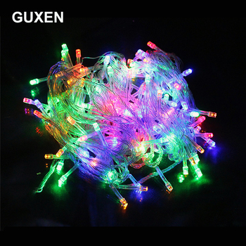 цена на 10M 20M 30M 50M lighting strings Christmas lighting Outdoor festive lights RGB/warm white/white/blue/red/green/purple color