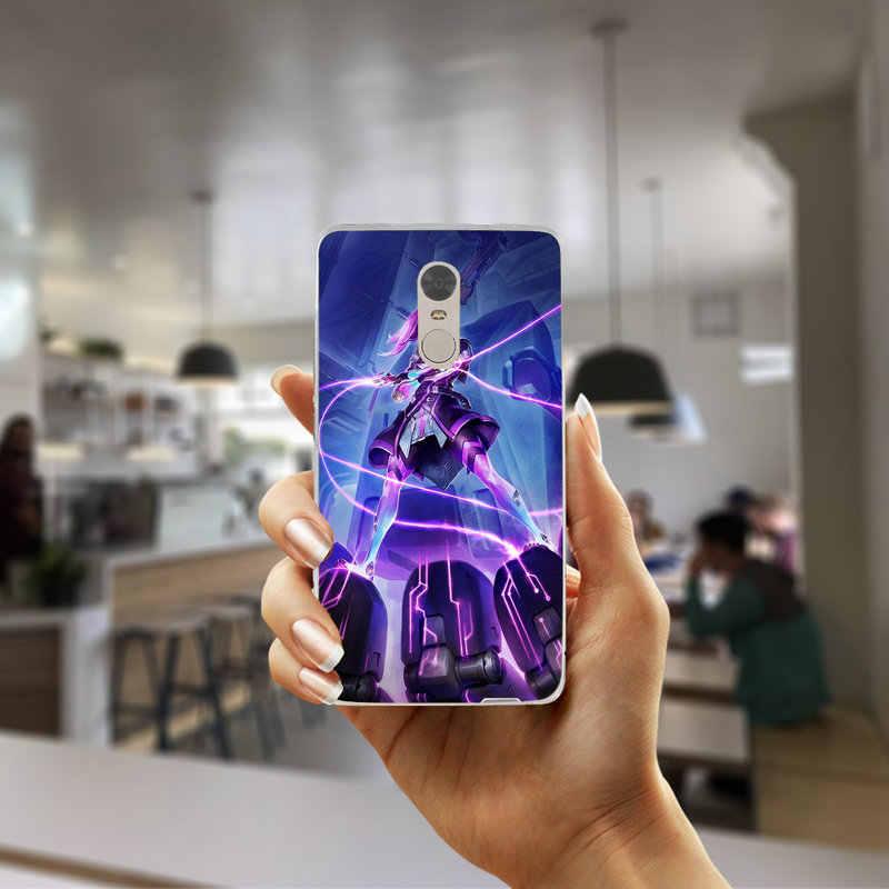 Сомбра герои Overwatchs Мягкие TPU мобильного чехлы для телефонов для Xiaomi Redmi Mi Note 4X2 3 3 S 4A 5 6 5S 5X 5A 6X Pro Plus