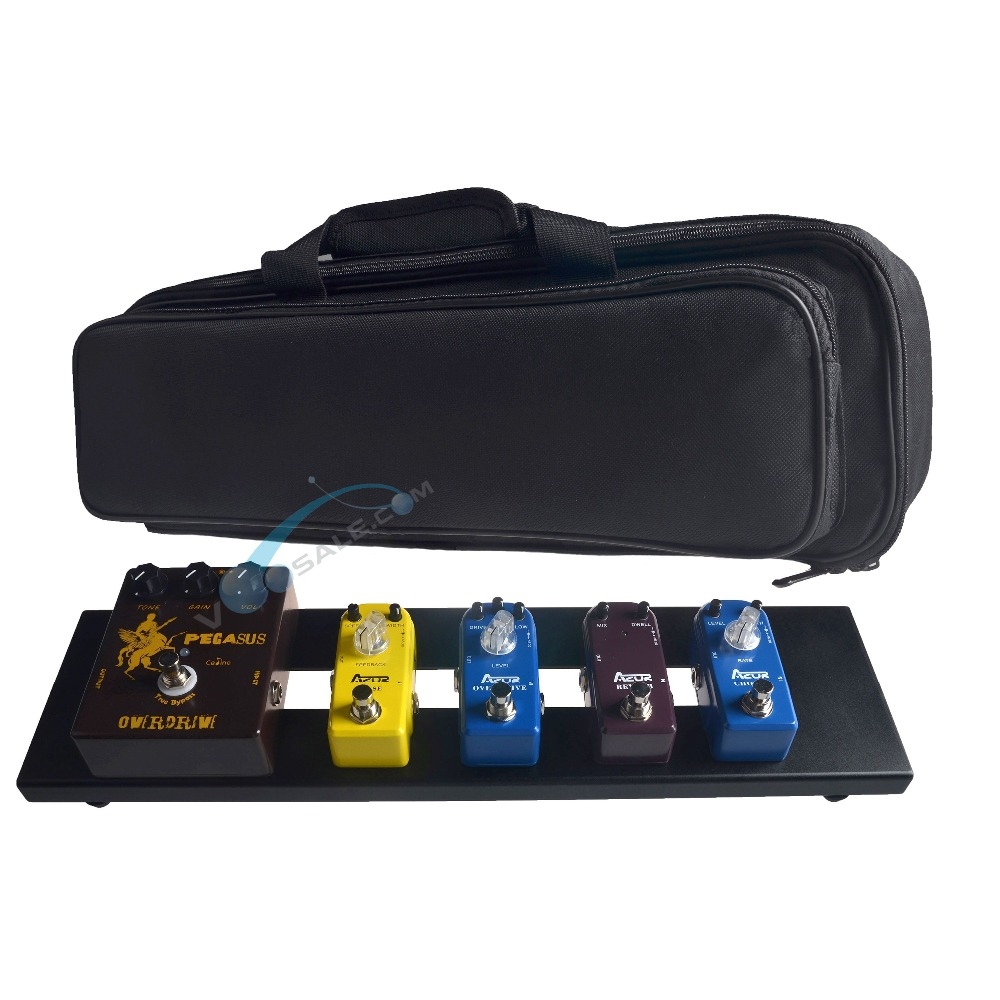 AZOR AB-101 Guitar Effect Pedal Board Aluminum Alloy With Durable Bag Guitar Portable Pedalboard New