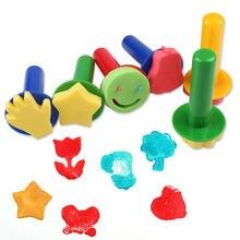Печать детей штемпели 6 шт diy губчатая краска уплотнение набор