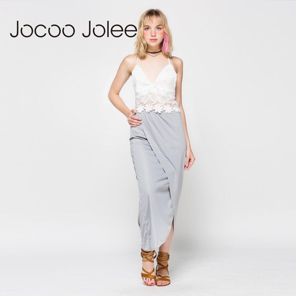 Jocoo Jolee ženske obleke s čipkastim telovnikom 2 kompleta Poletna - Ženska oblačila - Fotografija 3