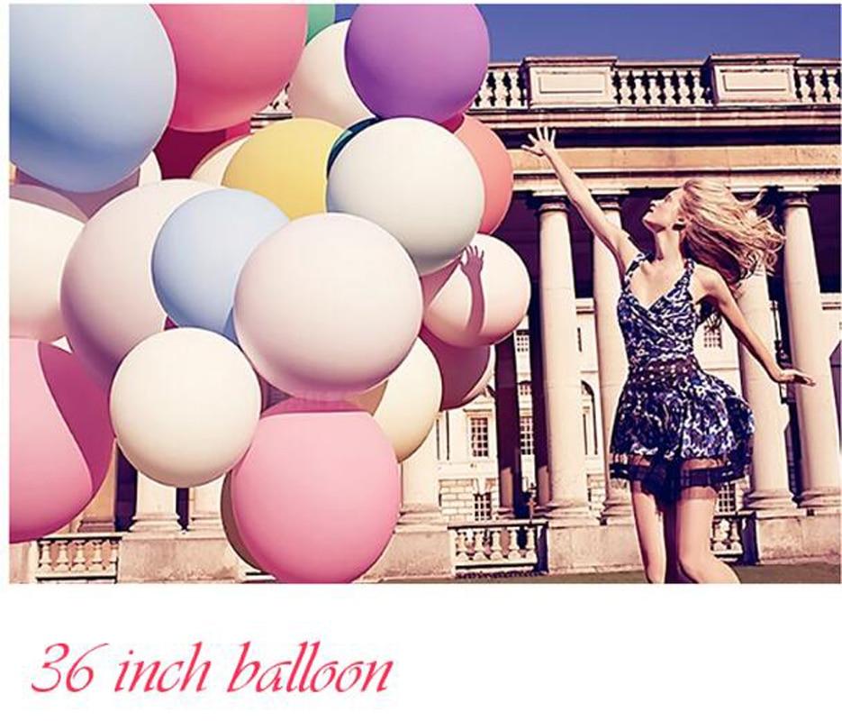 36 인치 자이언트 풍선 다채로운 풍선 폭파 헬륨 풍선 라텍스 풍선 생일 파티 장식 아이 풍선