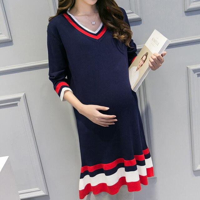 Осень И WinterWomen Большой Размер Полный Рукав Беременные Свитер Одежда Для Беременных Материнской Кормящих Грудью Свитер
