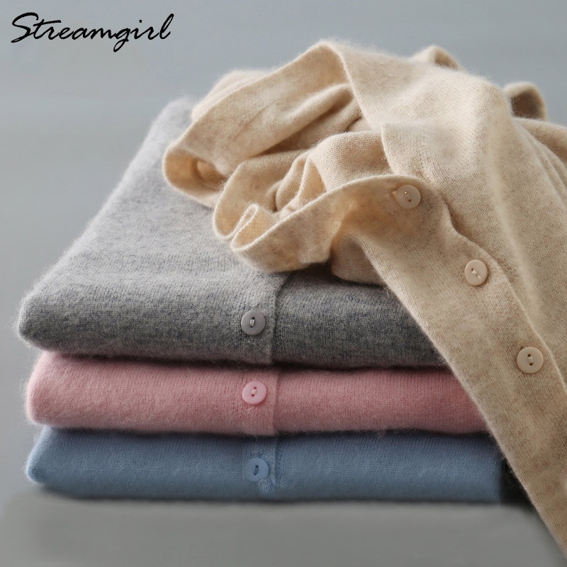 Knitted Cardigan Women Cashmere Wool Female Cardigans Short Black Cardigan Plus Size 2019 Cardigans Big Size Women Tops Spring