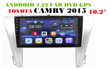 10.2 inch Android 6.0 Car Dvd Gps Navi Audio for TOYOTA CAMRY 2015— HD1024*600 OBD 1GB 16GB 3G 4G WIFI DVR 4-core