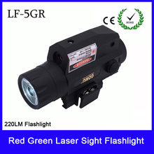 цены Pistol Tactical Red laser riflescope hunting Sight Scope with 220L LED flashlight Switch Button For Rifle Pistol Gun