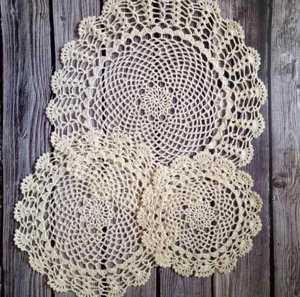 Hiện đại cotton placemat vòng cup coaster cốc nhà bếp bàn đám cưới đặt mat vải ren Crochet trà cà phê vải lau tay Handmade pad