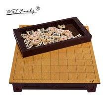 BSTFAMLY Wooden Japan Shogi 27*25*5cm 40 Pcs/Set International Checkers Folding Sho-gi Chess Game Table Toy Gift Children J02