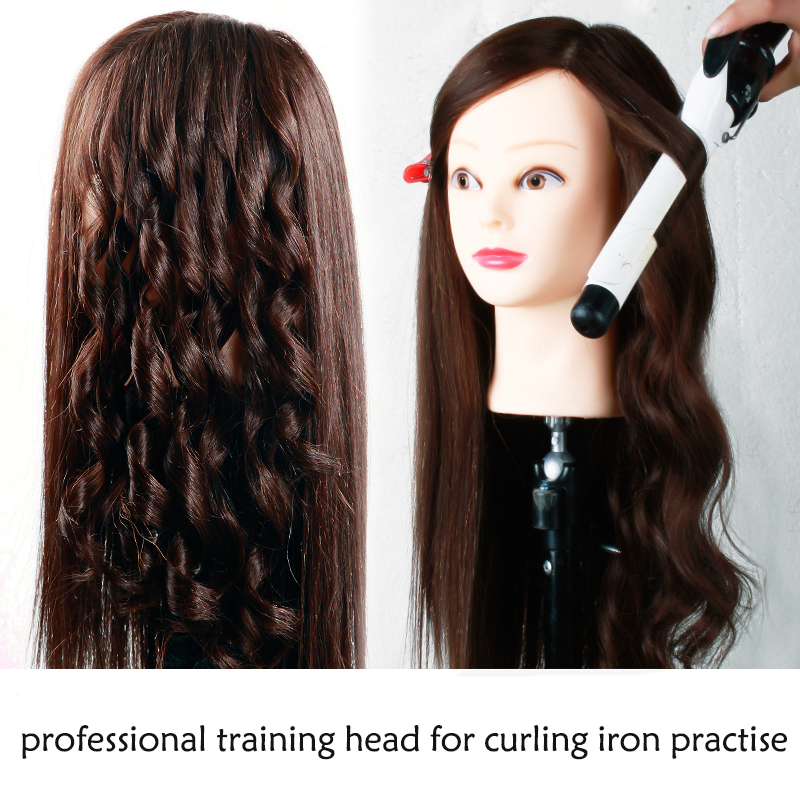 """24"""" Training Head With Hair Maquiagem Dolls 65% Human Hair Mannequins For Sale Nice Hairdressing Head Dummy Great Mannequin Head"""