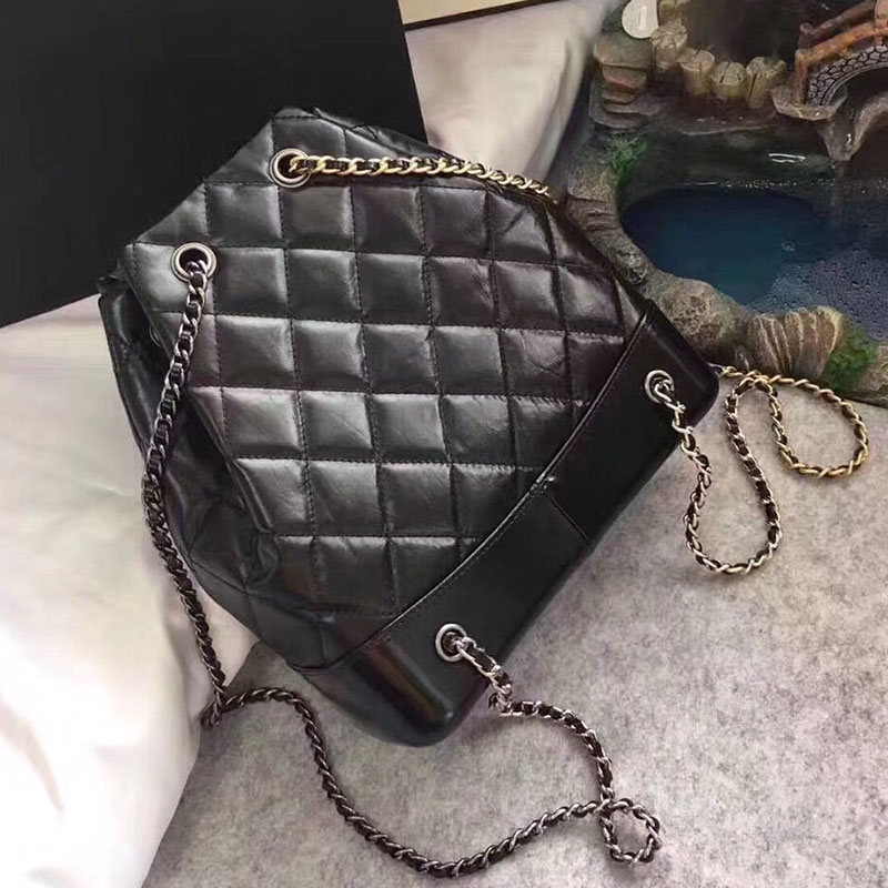 High quality Leather Backpack luxury designer chain mini backpack for women 2018 free shipping