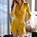 Dabuwawa fashion yellow OL knititng suit jumpsuit