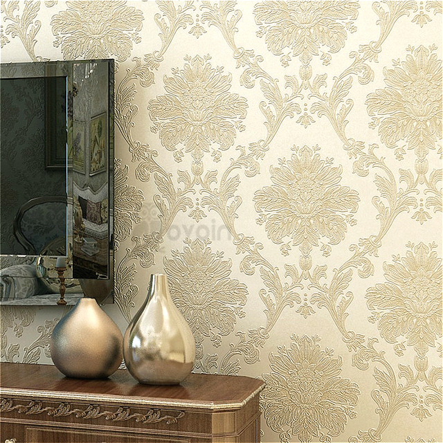 Pearly Gilt Luxury Floral Damast Texture vliestapete Home Wand ...