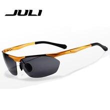 Aleación polaroid gafas de sol de espejo de la manera marca de fábrica polarizaron las gafas de sol de los hombres gafas gafas de sol masculino hombre hombres 8543C