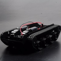 3 6V 130 Motor Smart Car Tank Robot Chassis Platform DIY Shock Absorption For Arduino