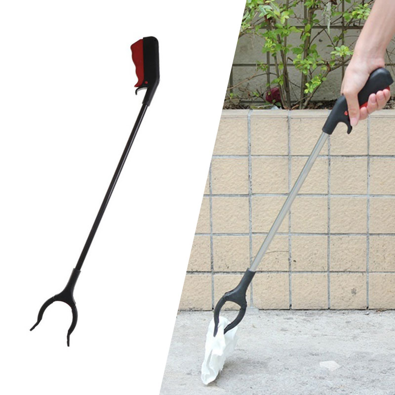 Long Arm Litter Picker Rubbish Debris Picker Reaching Tool Grabber Black Pick Up Tools Reachers Claw Cleaning Tool