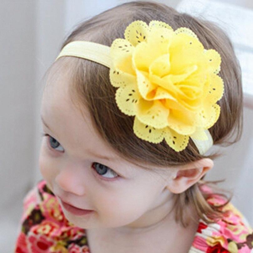 1 Piece MAYA STEPAN Candy Color Headwrap Baby Headbands Headwear Girls Hair Bronzing Hollow Flower Head Band Infant Newborn