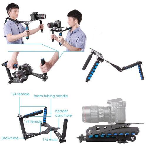 DSLR камеры и видеокамеры плечевой стабилизатор для Canon 5D Mark II/1D/7D/550D/60D/T2i/600D для Nikon D4/D800 для Sony|shoulder mount stabilizer|mark stabilefor canon | АлиЭкспресс