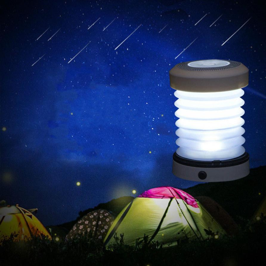 Multifunction Portable Outdoor LED telescopic spring convenient camping hang folding tent lights waterproof Emergency Lighting