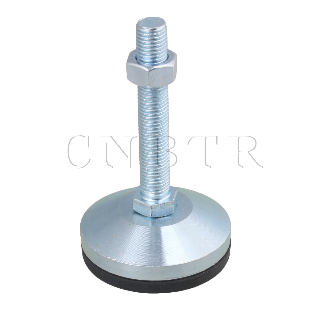 CNBTR 8cm Dia Carbon Steel M16 Thread Adjustable Anti-Slip Screw Table Feet ...