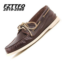 39 44 Men Loafers 100 Genuine Leather Brand Handsome Comfortable Top Quality Men Casual Shoes Oxfords
