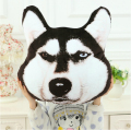 2015 New Arrival Super Cute Kawaii 3D Dog Plush Siberian Husky Tiger Satsuma Alaska Pillow Plush Baby Toy Gift