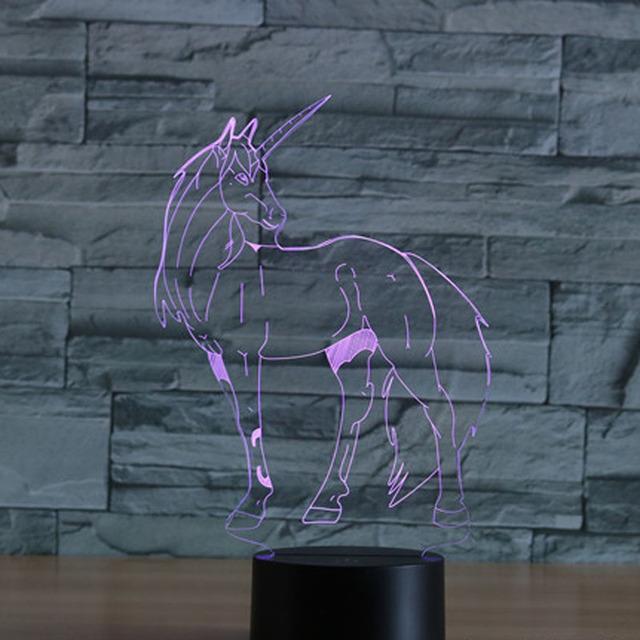 UNICORN SHAPE 3D LED