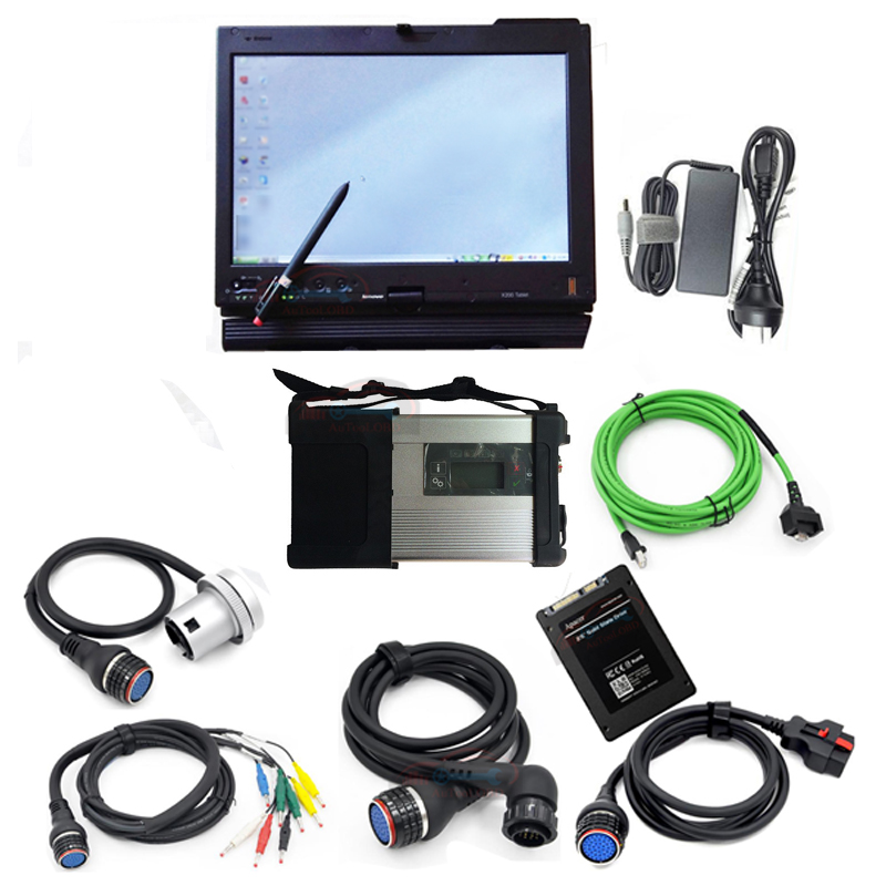2018 Super MB Star C5 with Laptop X200t For Lenovo MB C5 SD connect+SD Star C5 V2018.05 SSD car diagnostic Software for sd c5 38 pin main cable for mb star c4 c5 diagnosis sd connect for mercedes compact 4 5 super quality