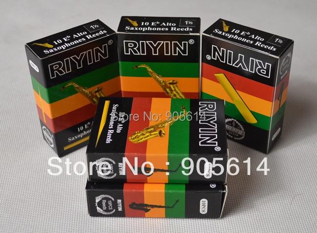 """5 cajas de cañas de saxofón Alto Marca """"RIYIN"""" NUEVO Fuerza # 1.5"""