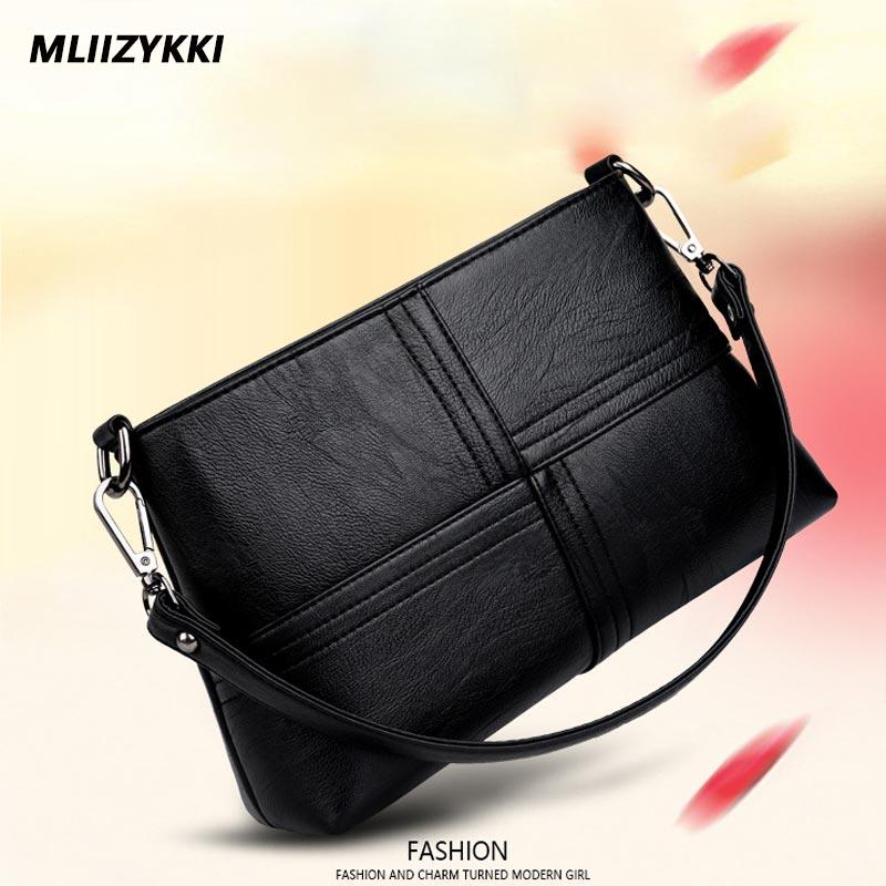 MLIIZYKKI Women Messenger Bags Flap Bag Lady PU Leather Crossbody Shoulder Bags Small Female Handbags chanel boy flap bag