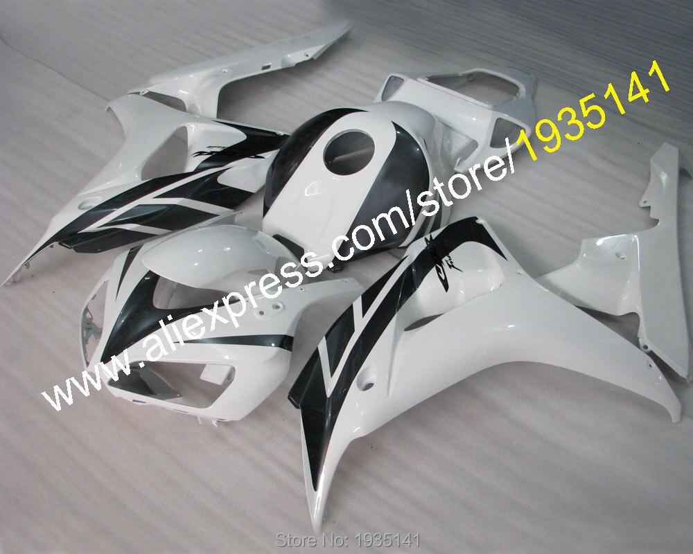 Hot Sales,Best price moto kit For Honda CBR1000RR 06 07 RR CBR1000 2006 2007 Black White Body Work Fairing (Injection molding)