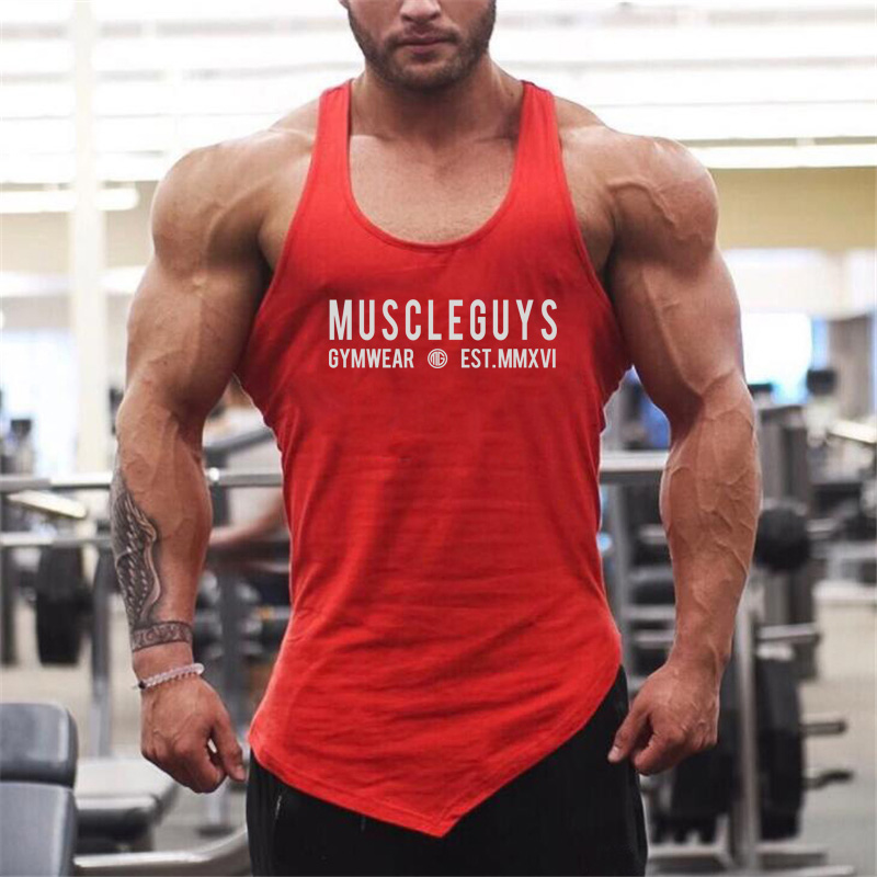 Mens Gyms Elasticity   Tank     Top   Cotton Bodybuilding Stringer   Tank     Tops   Singlet Brand Clothing Fitness Sleeveless Shirt Workout   top