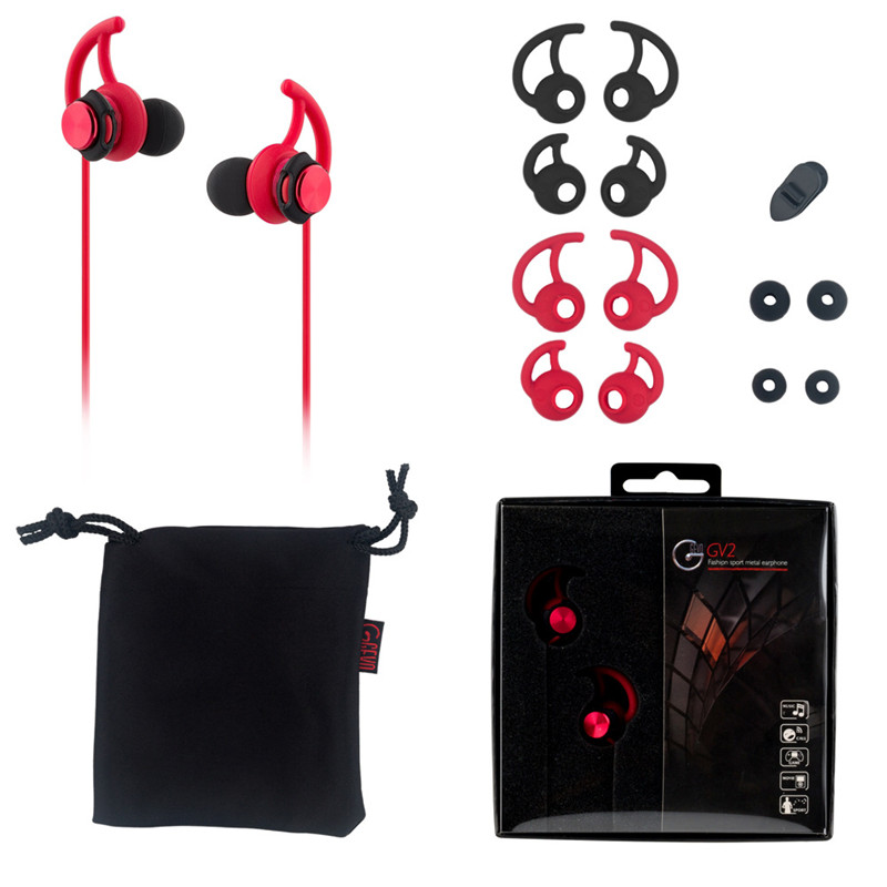 2017 New Gvoears Gv2 Hi-Fi In-Ear Waterproof Music Sports Fitness Earphone Heavy bass with Microphone for Xiaomi iPhone Samsung эластичная лента spirit fitness heavy