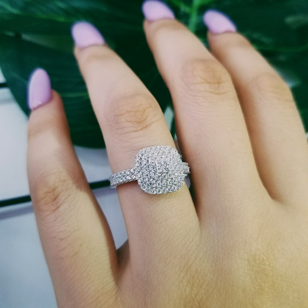 original Design 925 sterling silver fashion luxury wedding ring engagement finger ring wholesale jewelry R4615S-in Engagement Rings from Jewelry & Accessories on Aliexpress.com | Alibaba Group