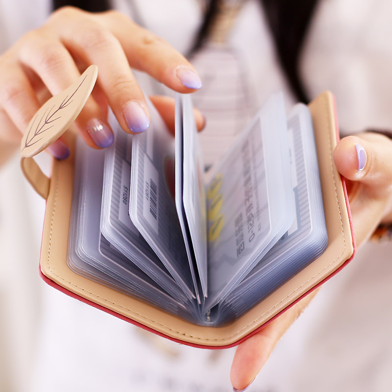 leather id card holder women bank credit cards wallet organizador cardholder purse porte carte porte carte bancaire