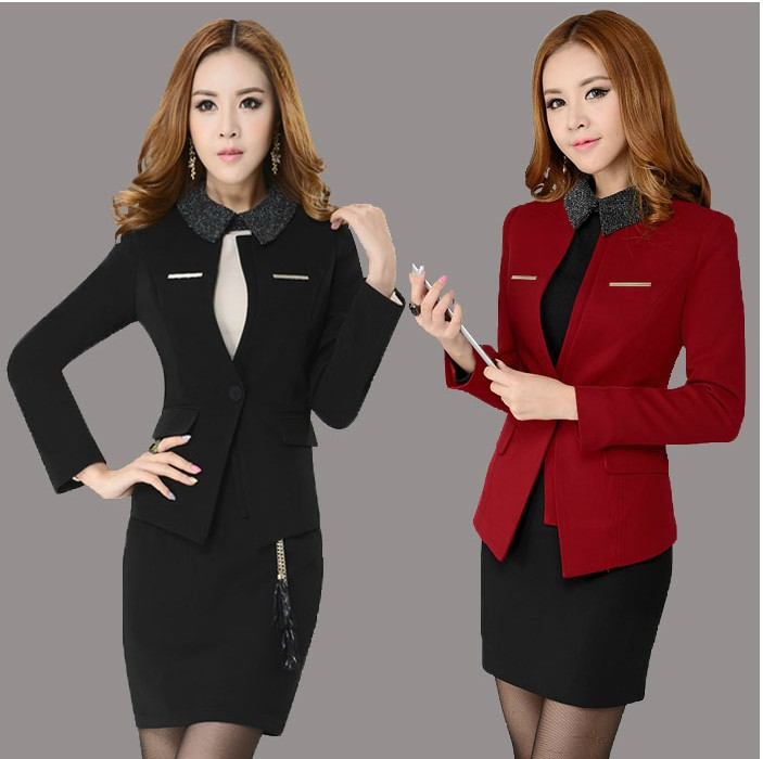 ᗑ New Plus Size 4xl Spring Autumn Fashion Women S Career Suits