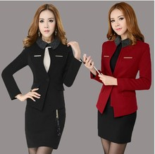 New Plus Size 4XL Spring Autumn Fashion Women's Career Suits With Skirt Formal Sets for Women Work Wear Suits Plus Size XXXXL